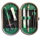 Набор Рамка овал, Питон зеленые блестки, (5 предметов)