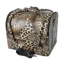 Сумка-чемодан для визажиста и мастера маникюра, леопард