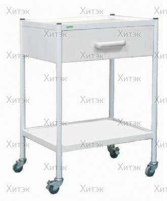 Стол ЭКО с выдвижным ящиком на колесиках -2 метл.полки 480*360*80
