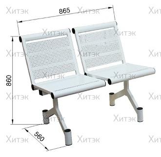 Секция стульев двухместная
