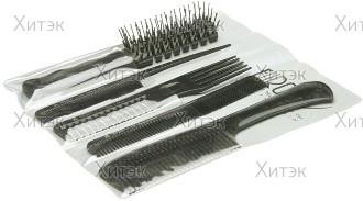 Набор из 4 расчёсок и 1 щётки