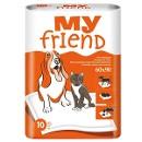 Впитывающие подстилки для животных My Friend, 60 х 90 см, 10 шт