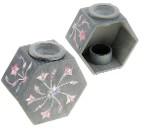 Аромалампа из камня Цветочный веер в форме многогранника