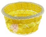 Корзинка декоративная Желтая с бусиной и бантом 8*16*16см*