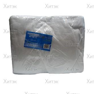 Полотенце большое в пачке 45x90 белый тисненый спанлейс (50шт)