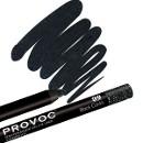 Гелевая подводка-карандаш для глаз, цвет черный с голографией 99