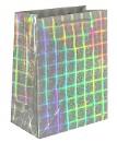 Пакет голографический серебристый, 15 х 12 х 6 см