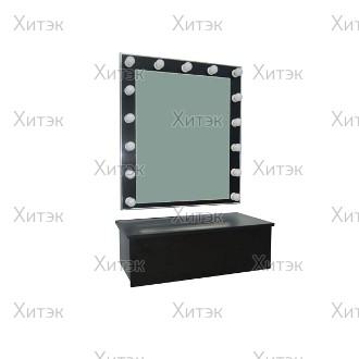 НАБОР: Зеркало для визажиста настенное + полка-ящик