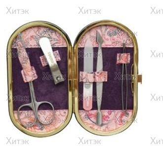 Набор Рамка овал розовый узор, (5 предметов)